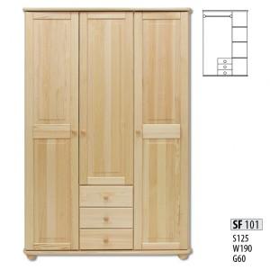 Шкаф трехдверный Drewmax SF-101