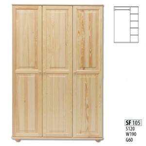 Шкаф трехдверный Drewmax SF-105