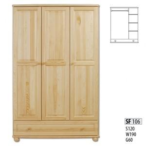Шкаф трехдверный Drewmax SF-106
