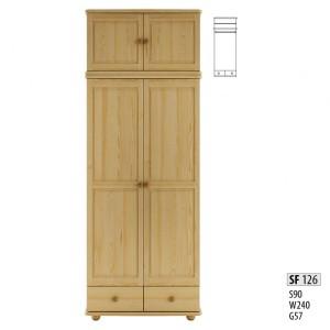 Шкаф двухдверный Drewmax SF-126