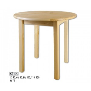 Обеденный круглый стол Drewmax ST-105